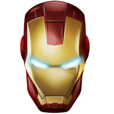 Avengers Ironman Helmet Vinyl Sticker/ Decal 5""