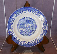 ASSIETTE DECORATIVE BOCH - MANUFACTURE DE LA LOUVIERE - DECOR YEDDO ASIATIQUE