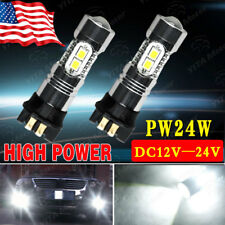 2x For BMW F30 3 Series 2835 White LED Bulbs PW24W Error Free DRL Daytime Light