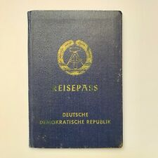 DDR East Germany Passport (1968) with West Germany stamps