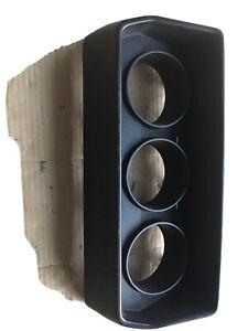 Classic Mini 3 dial clock binnacle cover  Black