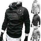 Men Casual Slim Fitted Hooded Hoodies Coat Jacket Tops Sweats Outerwear Shirt UK