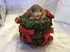 "Charming Tails 'The Wreath-In For The Season"" Christmas Mouse"