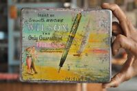 Vintage Wilson Fountain Pen Ad Litho Tin Box