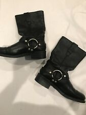 MASTERSON Women's Leather Black RB2501W Harness/Motorcycle Boots US 5