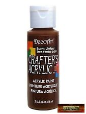 M01422 MOREZMORE DecoArt BURNT UMBER BROWN Crafter Acrylic All Purpose Paint A60