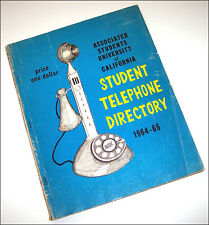 FREE SPEECH MOVEMENT UC Berkeley 1964/5 Student Telephone Directory Mario Savio