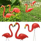 Outdoor Set of 2 Red Plastic Lawn Garden House Flamingo Ornaments Party Decor