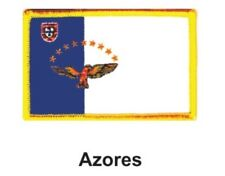 """AZORES FLAG EMBROIDERED PATCH - IRON-ON - NEW 2.5 x 3.5"""" FREE SHIPPING"""