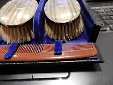 More details for antique -- silver backed beard brushes ideal hispter gift
