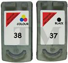Cartouche d'encre CL38 couleur et PG37 noir Remanufacturée Canon Pixma MP190