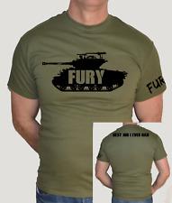 FURY FILM ,SHERMAN TANK,FEST,BEST JOB I EVER HAD,ARMY,WAR,BRAD PITT,FUN,T SHIRT