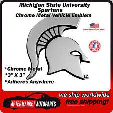 Michigan State University Spartans Chrome Metal Car Auto Emblem Decal Team Logo