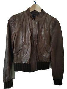 Ladies leather bomber jacket (ASOS)