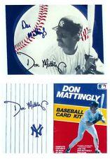 N Y YANKEE DON MATTINGLY 1988 BASEBALL CARD KIT AUTOGRAPHED IN ORGINAL BOX
