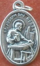 Saint St. Joseph the Worker Medal + Earthly Father of Jesus + Z