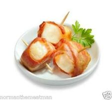 BACON WRAPPED SCALLOPS - 5 POUNDS - FROZEN - READY TO COOK - GREAT FOR HOLIDAYS