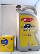 Citroen DS3 1.4 VTi Petrol Oil Filter + 5L 5w30 Engine Oil Kit 2009-Onward 95BHP