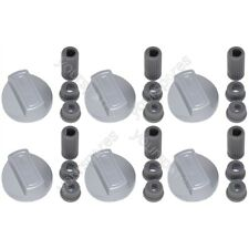 6 X Universal Stoves Belling Silver Chrome Cooker Oven Hob Control Knob