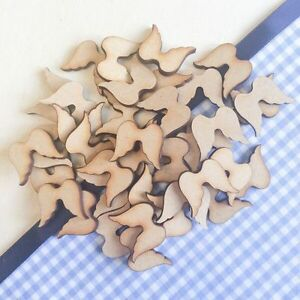 Wooden Shapes Angel Wings Christmas Heart Family Tree Blank Card Making
