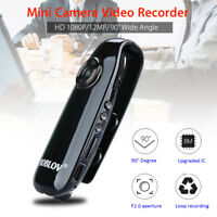 1080P HD Mini 90° Camera Dash Cam Police Body Motorbike Cycle Camcorder Motion