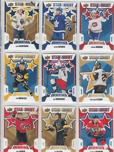 2019-20 UPPER DECK CREDENTIALS STAR OF THE NIGHT 11 DIFFERENTS CARDS  LOT 13   a