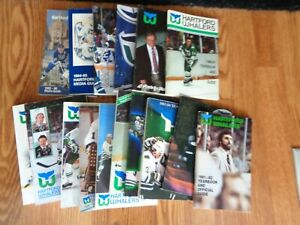 16  DIFFERENT  HARTFORD  WHALERS   YEARBOOKS &  MEDIA   GUIDES  1980  -  1996