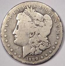 1889-CC Morgan Silver Dollar $1 - VG Details - Rare Date Carson City Coin!