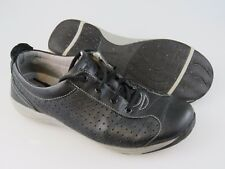 DANSKO Hillary Black Leather Comfort Lace Up Sneakers Shoes US 9.5-10 EU 40