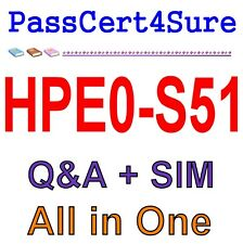 HP Building HPE Data Center Solutions HPE0-S51 Q&A+SIM