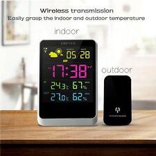 Digital Wireless Weather Station dock avec intérieur/extérieur Température écran DEL