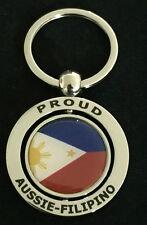 PROUD AUSSIE - FILIPINO METAL KEYCHAIN GIFT AUSTRALIAN PHILIPPINE SOUVENIR