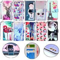 PU Leather Flip Stand Case Cover For Huawei Mate 20 Lite P20 Pro Honor 5C 6A P10