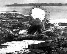 New 8x10 Korean War Photo: B-26 Invaders Aircraft Bomb Depot in Wonsan, N. Korea