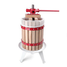 1.6 Gallon Fruit Wine Press Cider Apple Grape Crusher Juice Maker Tool Wood