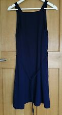 River Island Navy Blue Strap Tie Waist Dress Size 14 BNWT RRP £32