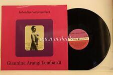 "Lebendige Vergangenheit -  Giannina Arangi Lombardi -  LP 12"" (VG)"