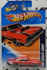 SUPER STOCK DRAG RACE DART 1968 RED 2012 1 81 081 MOPAR DODGE BOYS HW HOT WHEELS