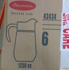 Pasabahce Bolero glass Jugs x 6, 43434 - 1Litre Set of 6