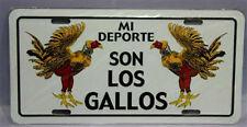 "Puerto Rico Mi Deporte Son Los Gallos Flag 6""x12"" Aluminum License Plate Sign"