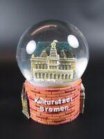 Schneekugel Bremen Rathaus Stadtmusikanten Snowglobe Germany Souvenir,Neu