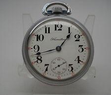 Hamilton 21J 18S 940 Railroad Grade Pocket Watch Runs!