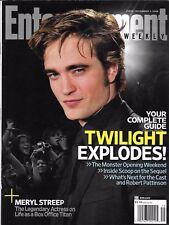 Entertainment Weekly movie magazine Twilight Robert Pattison Meryl Streep Milk