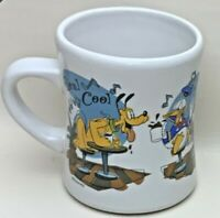 Vintage Disney Store Mug Jazz Cafe Mickey Minnie Donald Pluto Goofy