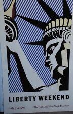 Liberty Weekend by Lichtenstein Art Print Rare 1986 Poster
