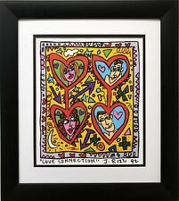 "James Rizzi ""Love Connection"" CUSTOM FRAMED POP ART Romance Dating"