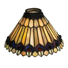 Meyda Lighting 8'W Tiffany Jeweled Peacock Shade - 21624