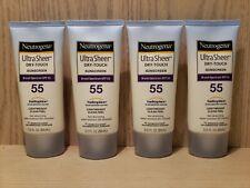 (4-Pack) Neutrogena Ultra Sheer Dry-Touch Sunscreen SPF 55 3 oz NEW!