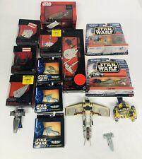 ?STAR WARS! Lot of 22 Die Cast Vehicles Micro Machines, Black Series, Titanium