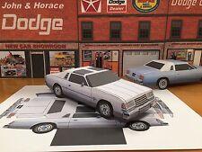 Papercraft 1978 Dodge Magnum XE coupe T-Top Paper Model Car E Z U-make